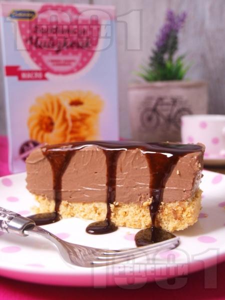 Лек и лесен вкусен домашен шоколадов чийзкейк (торта) с маскарпоне без печене - снимка на рецептата